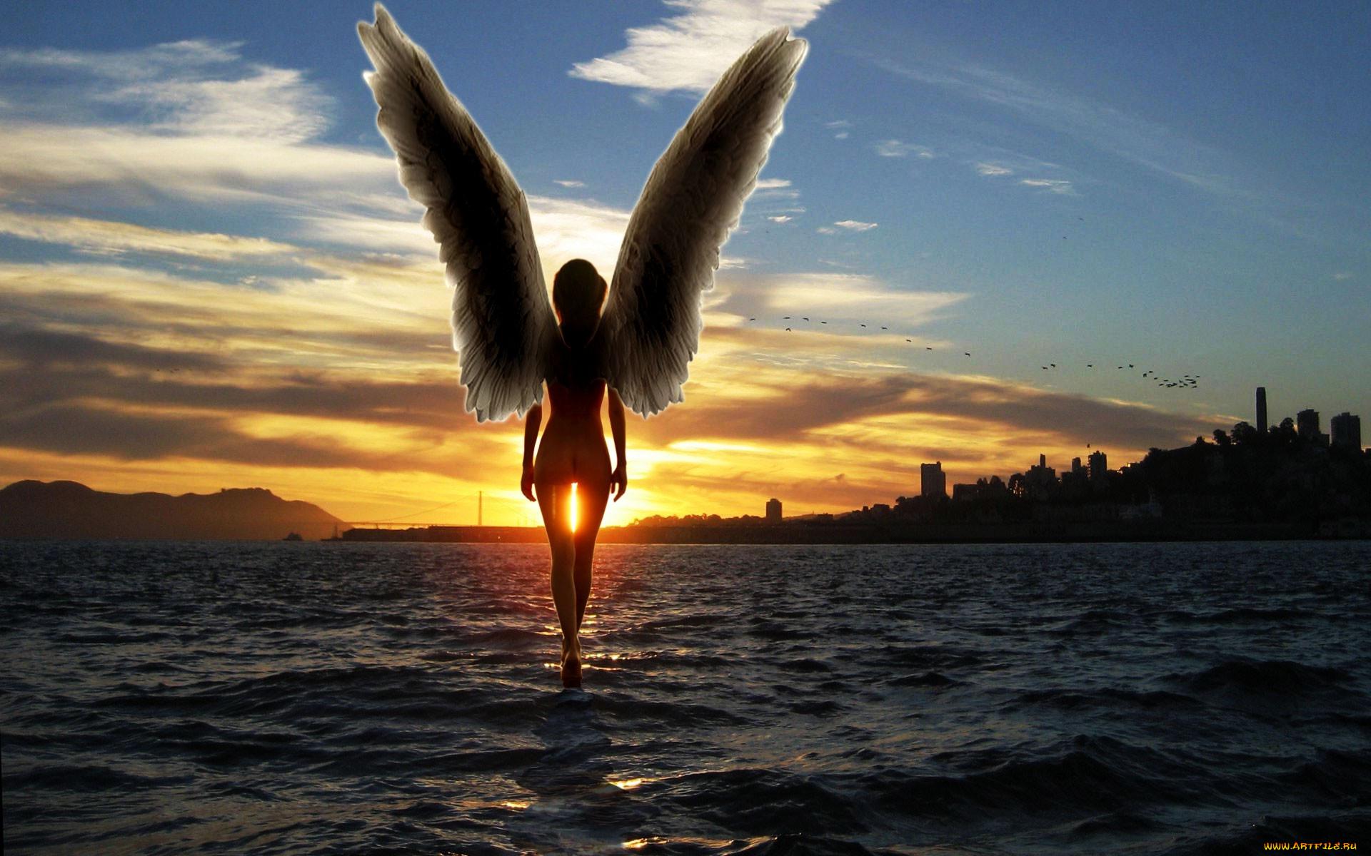 ангел на берегу картинка желании